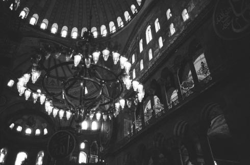 Chandeliers in the Aya Sofya