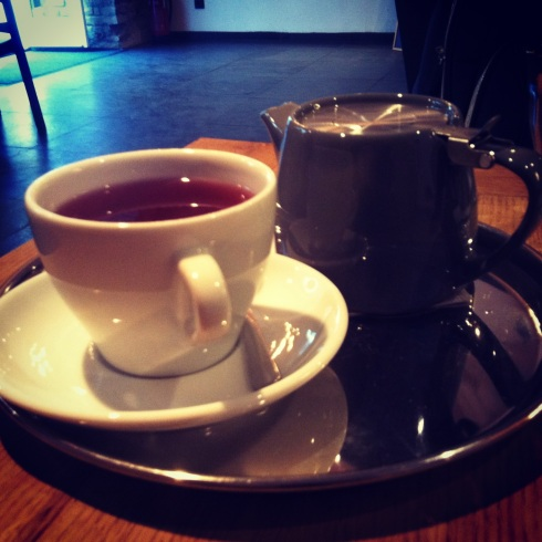 Tangerine-ginger tea. Yes, tea, I'm SORRY, I had already hit a few other cafes for the series this day and I was caffeinated to the point of heart palpitations.