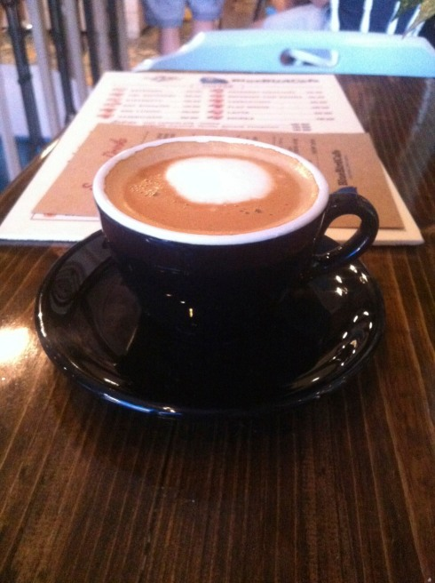 The flat white at Blue Bird